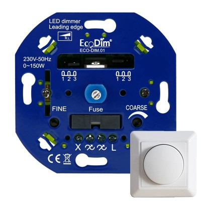 Professionele LED Dimmer 0-150W fase-aansnijding incl frontje