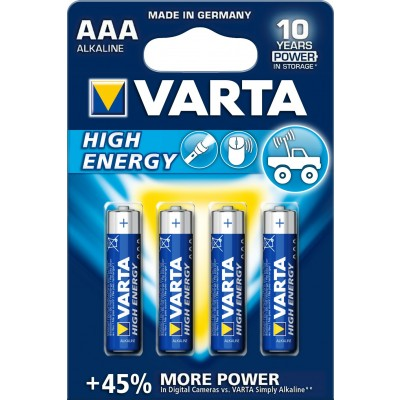 Varta High Energy AAA batterijen 4 stuks