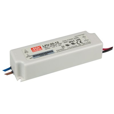 LED transformator 12V, 20W Waterdicht (IP67)