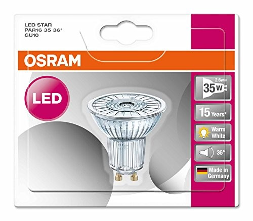 osram dimbare gu10 led spot 35w vervanger warm wit 2700k. Black Bedroom Furniture Sets. Home Design Ideas