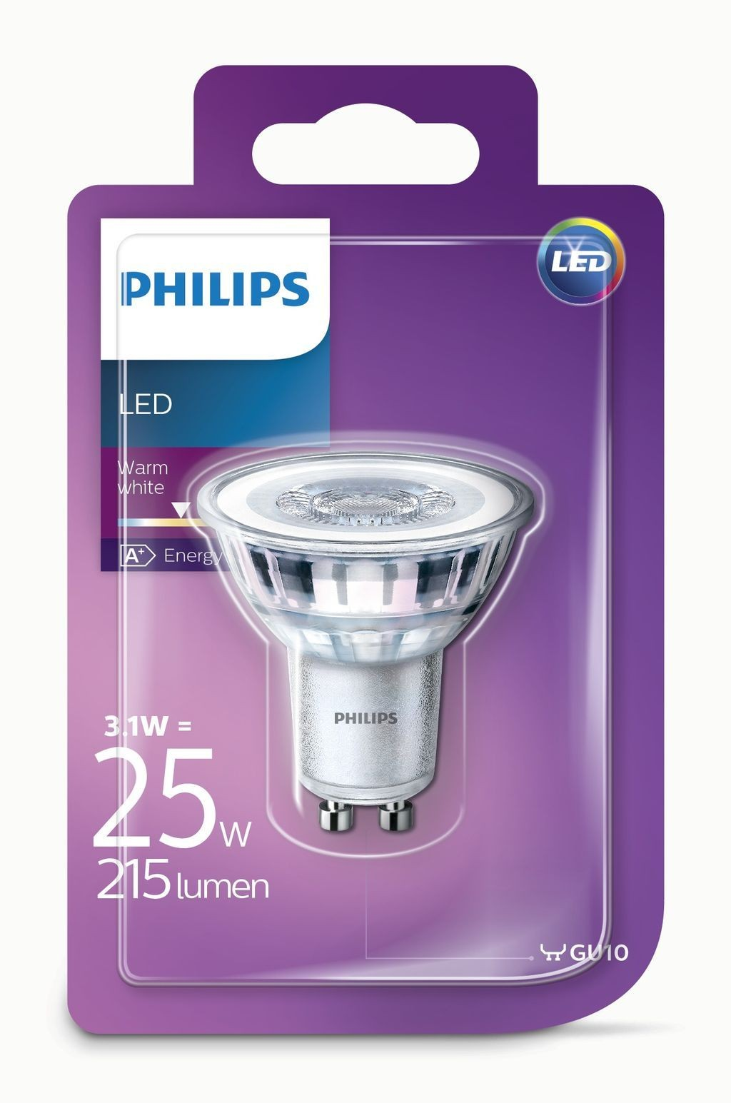 philips gu10 led spot ledclassic 3w 25w vervanger. Black Bedroom Furniture Sets. Home Design Ideas