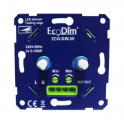 LED Duo Dimmer 0-100W fase-AFsnijding. Dubbele draaidimmer voor LED Lampen