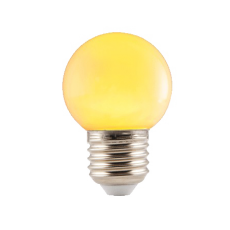 Gele LED Prikkabel lamp 1W E27 Fitting