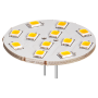 Krachtige MR11 G4 lamp, 12 SMD LEDs (vervangt 25W)