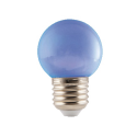 Blauwe LED Prikkabel lamp 1W E27 Fitting