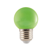 Groene LED Prikkabel lamp 1W E27 Fitting